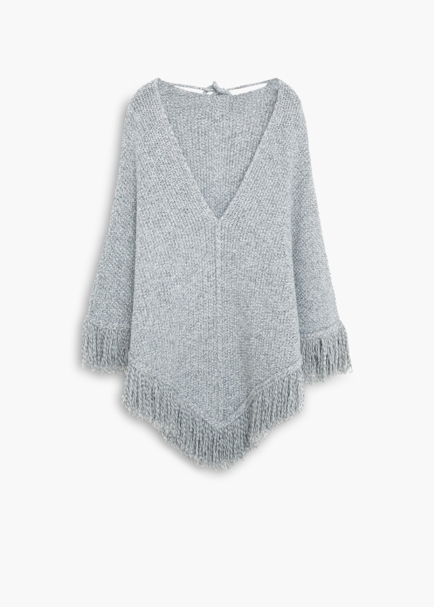 Poncho in wood by Mango.
