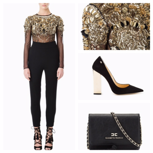 Mysterious seduction in this Black and gold look. Sparkling Top,the perfect element to complement your outfit with a sexy touch.